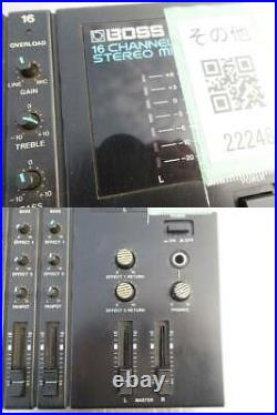 Boss Roland Mixer 16 channel Stereo Recording PA Equipment BX-16 From Japan Use