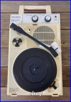 Columbia GP-3 Portable Record Player From Japan Red tested withBox Rare