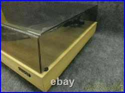 DENON Record Player DP-1700 Brown Good Condition From Japan