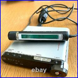 EXC+5 Sony MZ-RH1 Minidisc Recorder Player Hi-md Silver Sound Great From JAPAN