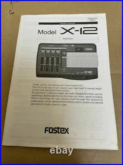 FOSTEX X-12 Multitracker 4-Track Cassette Tape Recorder From Japan Tested works