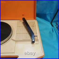 National SF-338 Portable Record Player Orange tested Rare from Japan F/S