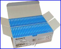 New SONY Mini Disc for Recording (MD) BASIC 80 Minutes × 50 Pieces from Japan