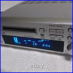 ONKYO MD-105FX Hi-MD Mini Disc Recorder Silver High Speed Audio Used From JAPAN