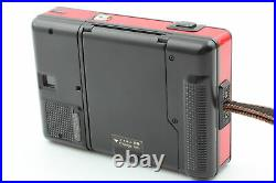 RARE RED Exc+55 Konica RECORDER Half Frame 35mm Film Camera From JAPAN