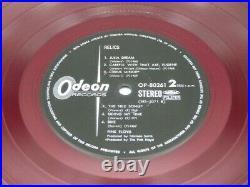 Rare Red Vinyl LP RELICS Pink Floyd 1971 Original ODEON OP-80261, from Japan