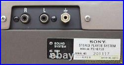 SONY PS-6750 Record Player Power Supply Voltage 100V Good Used Item from Japan K