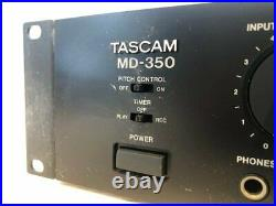 TASCAM MD350 MINI DISC Player Recorder Used Tested Working Vintage from Japan