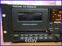 Tascam CC-222 MKIV CD Recorder Player Power supply voltage 100V From Japan Used