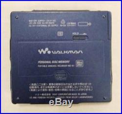 VINTAGE SONY MINIDISC WALKMAN RECORDER MZ-N1, blue color from JP Free Ship